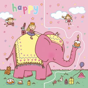 Elephant Birthday Card, Sparkly Card,  Pop Out Card TW190